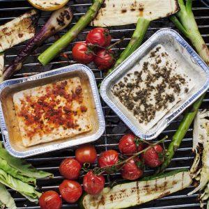 grillad fetaost grönsaker