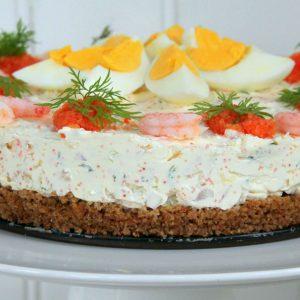 räkcheesecake recept midsommar