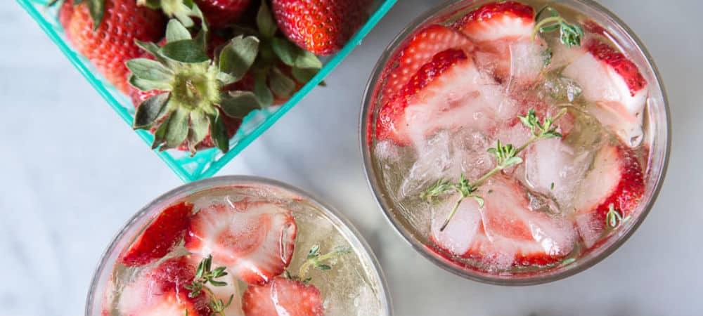 lillet spritzer jordgubbar cocktail