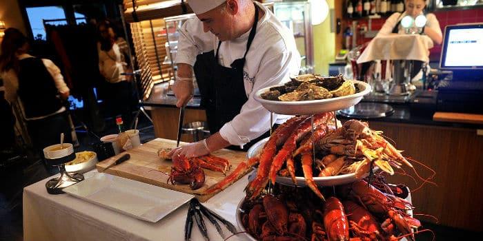 skaldjursbuffé stockholm fisk
