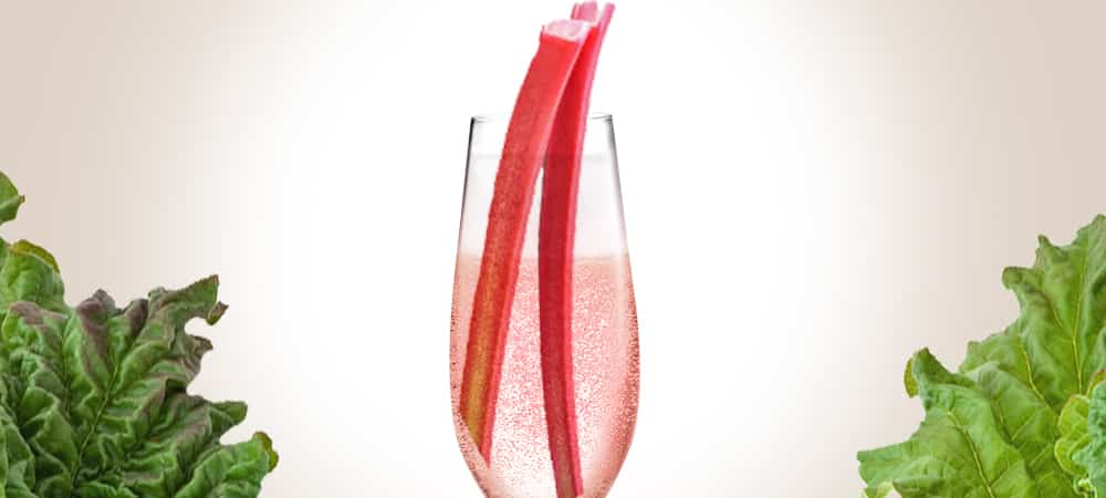 rabarberbellini cocktail mousserande