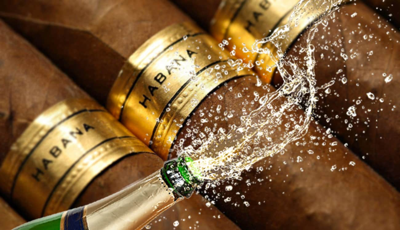 champagne och cigarrer