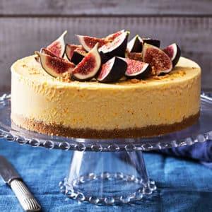 fryst cheesecake med saffran